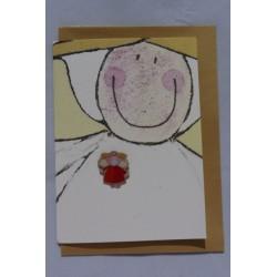 Beschermengel Pin Oranje-Rood met Kaart