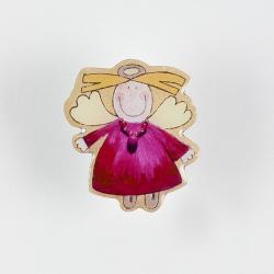 Beschermengel Pin Paars-Roze