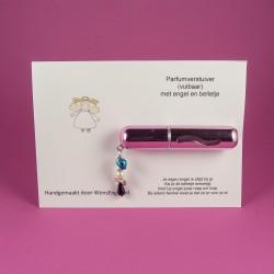 Parfumverstuiver Roze met kaart